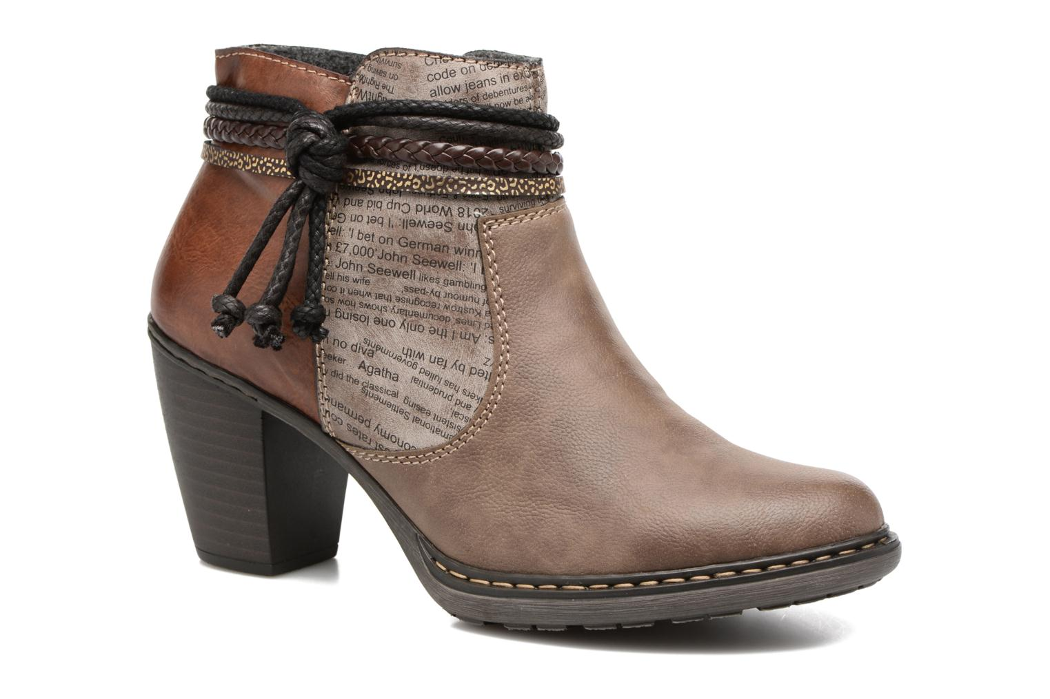 Ankle boots Rieker Alice 55298 Brown detailed view/ Pair view
