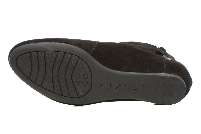 Bottines et boots Unisa Astor Noir vue haut