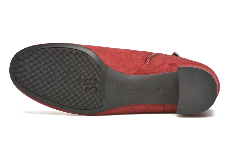 Bottines et boots Unisa Cueva Rouge vue haut