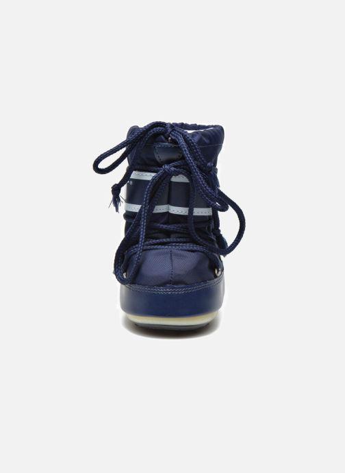 Stivali Moon Boot Moon Boot Mini Nylon Azzurro modello indossato