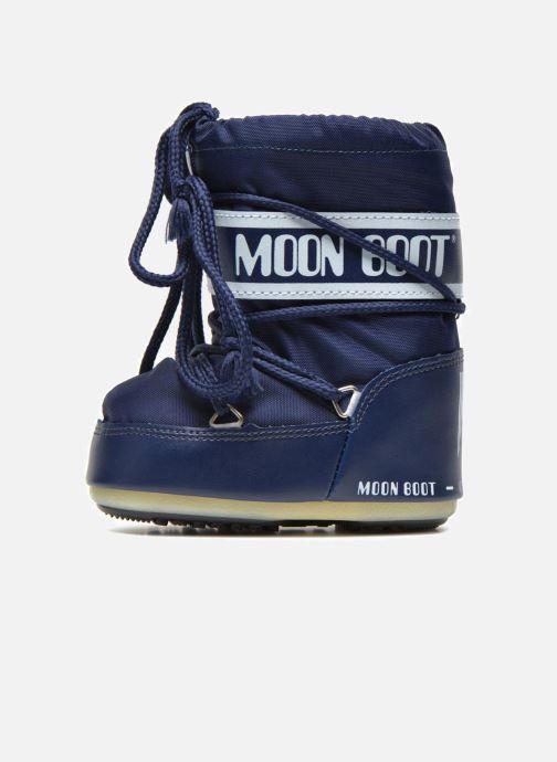 Støvler & gummistøvler Moon Boot Moon Boot Mini Nylon Blå se forfra