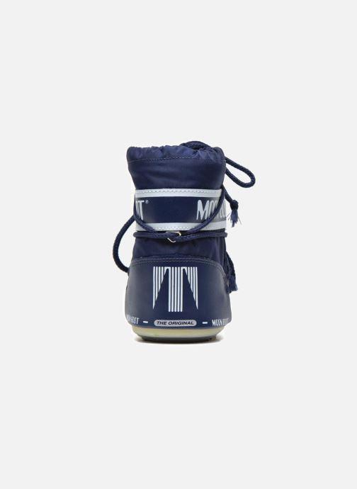 Stiefel Moon Boot Moon Boot Mini Nylon blau ansicht von rechts