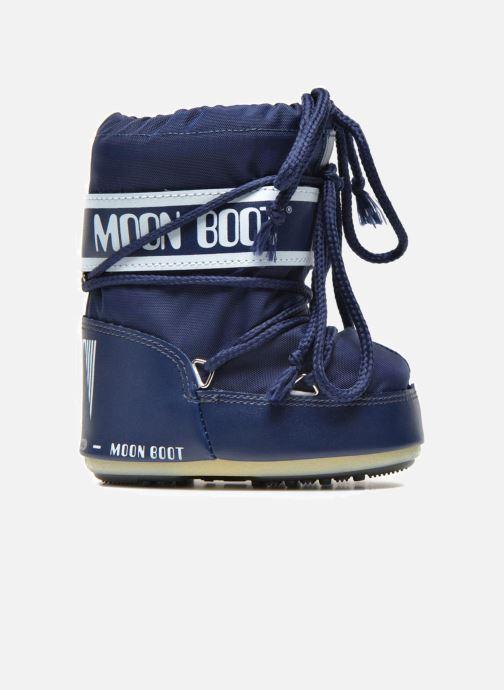 Bottes Moon Boot Moon Boot Mini Nylon Bleu vue derrière