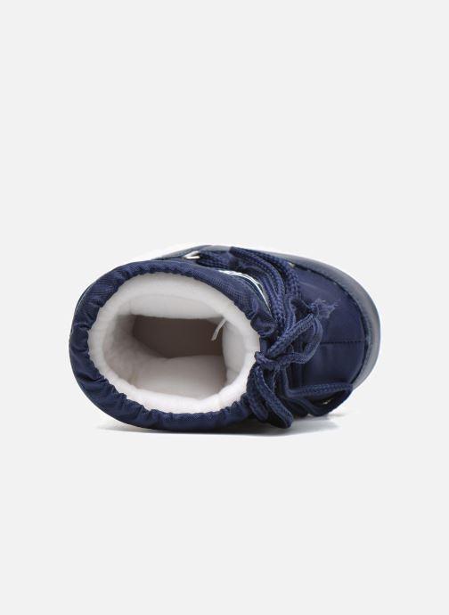 Stiefel Moon Boot Moon Boot Mini Nylon blau ansicht von links