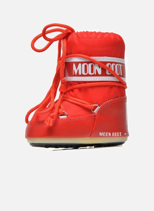 Bottes Moon Boot Moon Boot Mini Nylon Rouge vue face
