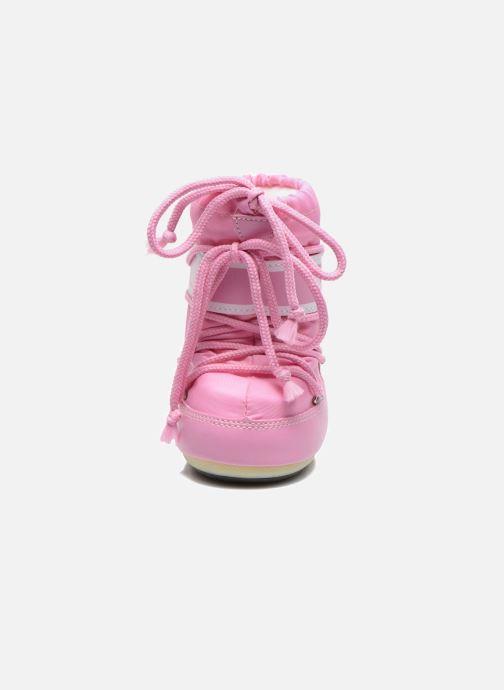 Stivali Moon Boot Moon Boot Mini Nylon Rosa modello indossato