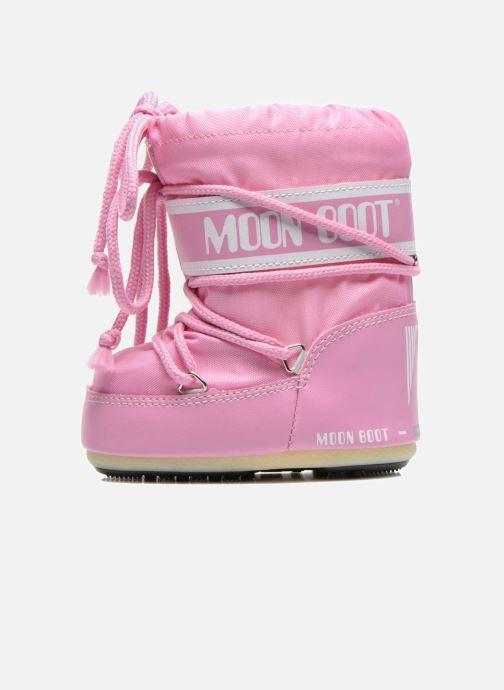 Botas Moon Boot Moon Boot Mini Nylon Rosa vista de frente