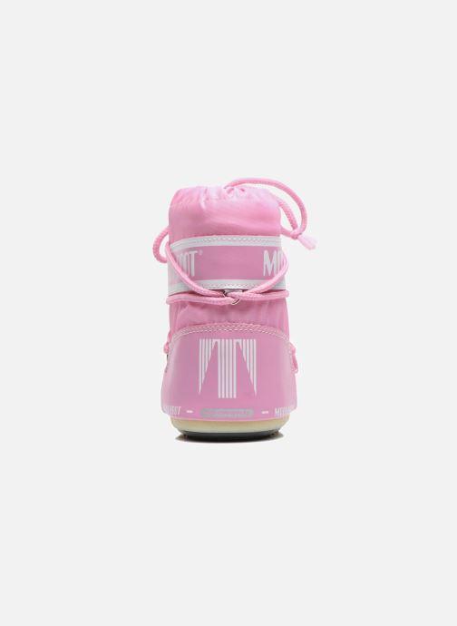 Stiefel Moon Boot Moon Boot Mini Nylon rosa ansicht von rechts