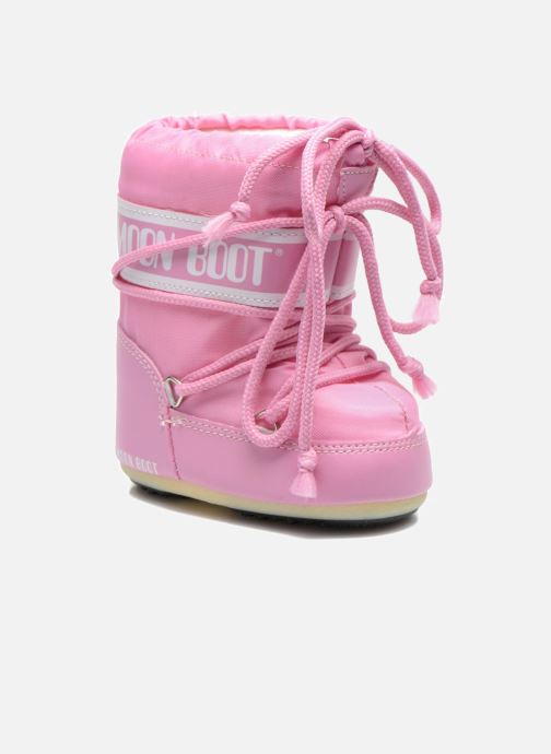 Stiefel Moon Boot Moon Boot Mini Nylon rosa detaillierte ansicht/modell