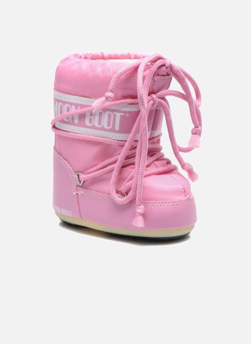Støvler & gummistøvler Moon Boot Moon Boot Mini Nylon Pink detaljeret billede af skoene