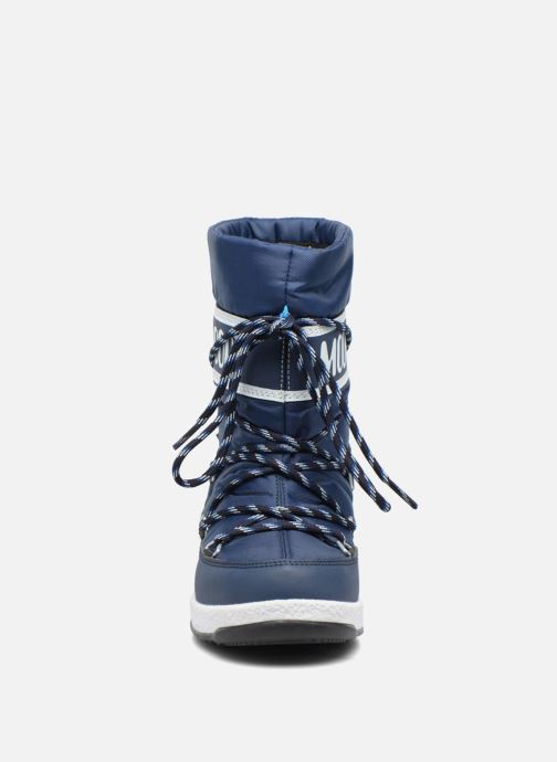 Stivali Moon Boot Moon Boot Sport Jr Azzurro modello indossato