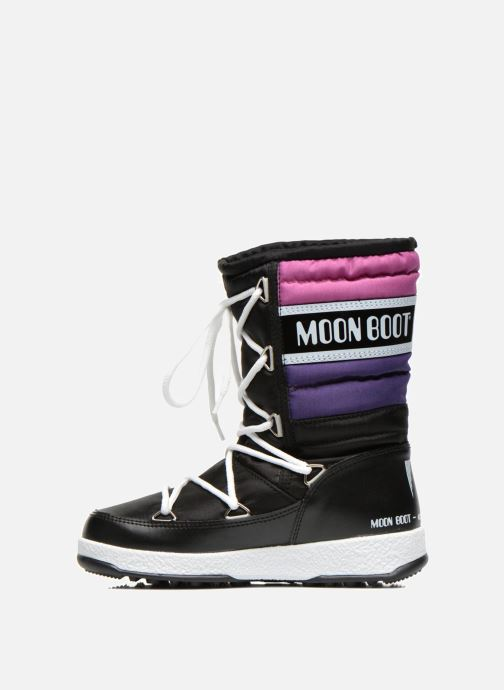 Boots & wellies Moon Boot Moon Boot Quilted Jr Wp Black front view
