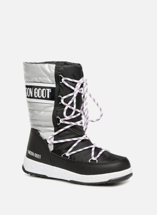Støvler & gummistøvler Moon Boot Moon Boot Quilted Jr Wp Sort detaljeret billede af skoene