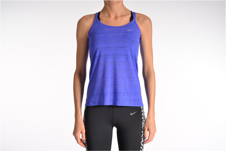 Divers Nike Nike Df Cool Breeze Strappy Ta Violet vue bas / vue portée sac