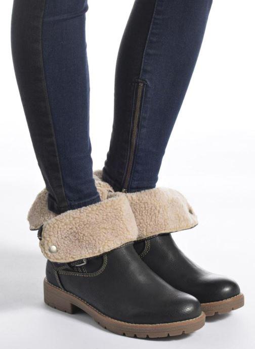 Bottines et boots Tom Tailor Victoria Noir vue bas / vue portée sac
