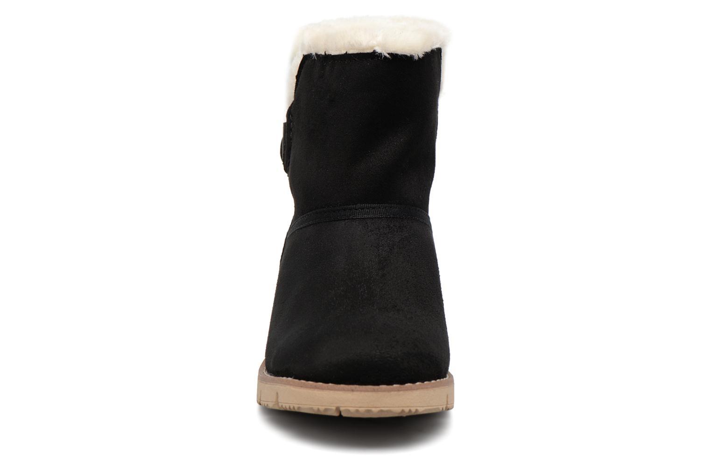 Bottines et boots Tom Tailor Ivoire Noir vue portées chaussures