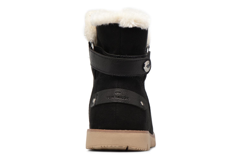 Bottines et boots Tom Tailor Ivoire Noir vue droite