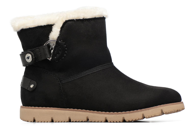 Bottines et boots Tom Tailor Ivoire Noir vue derrière