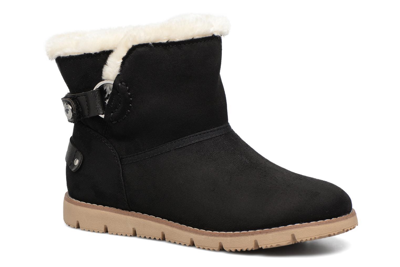 Bottines et boots Tom Tailor Ivoire Noir vue détail/paire