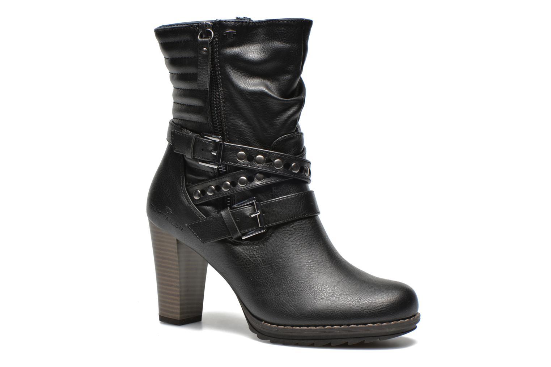 Bottines et boots Tom Tailor Fleur Noir vue détail/paire