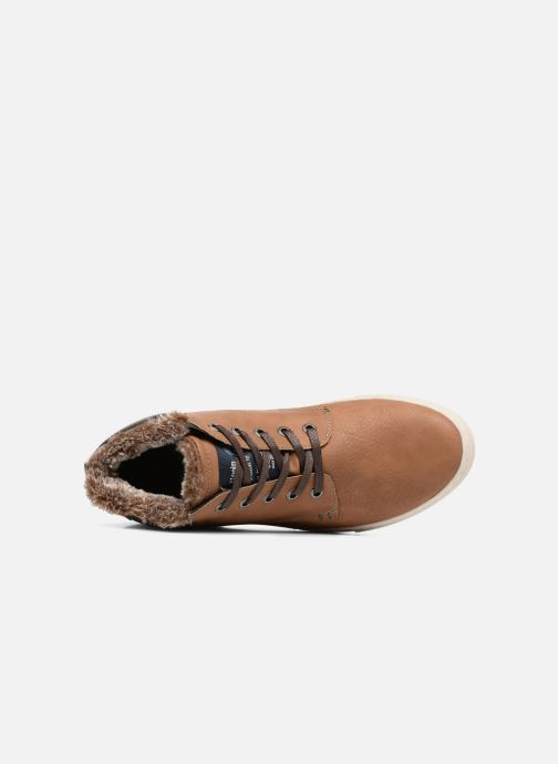 Trainers Tom Tailor Olive Brown view from the left