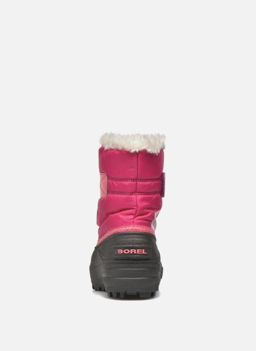 Støvler & gummistøvler Sorel Snow Commander Pink Se fra højre