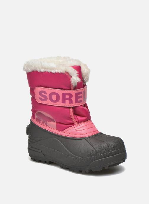 Støvler & gummistøvler Sorel Snow Commander Pink detaljeret billede af skoene