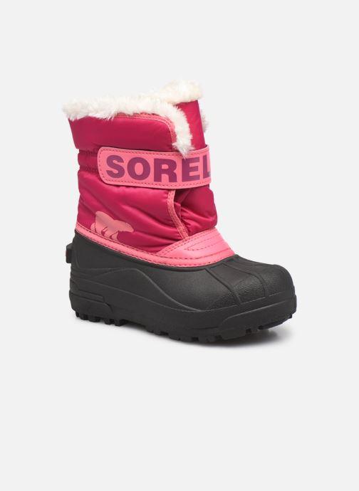 Bottes Sorel Snow Commander Rose vue détail/paire