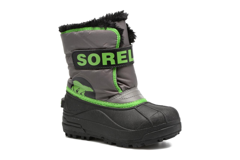 Bottes Sorel Snow Commander Gris vue détail/paire