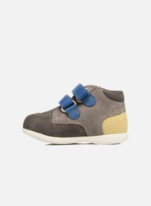 Zapatos con velcro Kickers Babyscratch Gris vista de frente