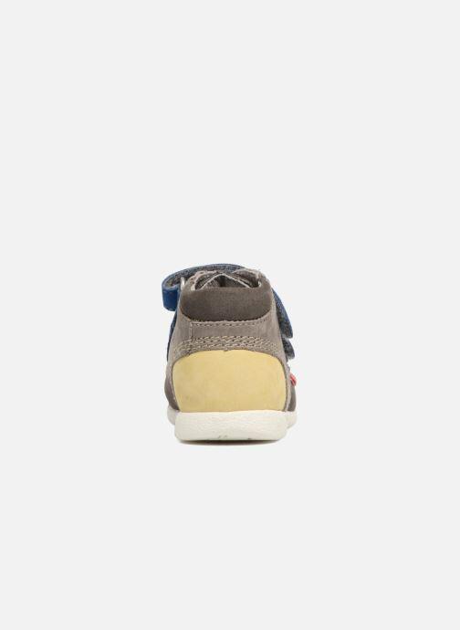 Zapatos con velcro Kickers Babyscratch Gris vista lateral derecha