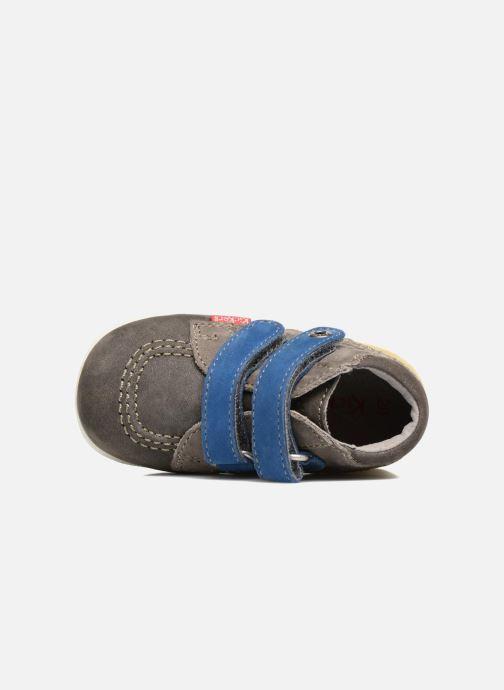 Zapatos con velcro Kickers Babyscratch Gris vista lateral izquierda