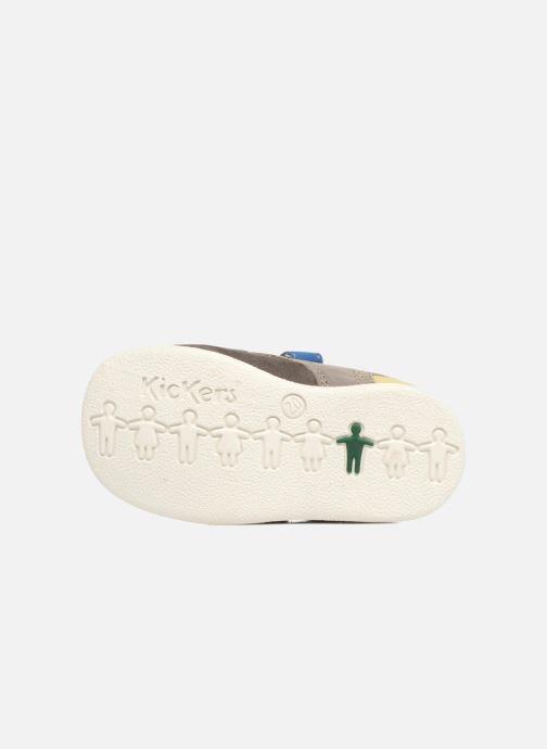 Chaussures à scratch Kickers Babyscratch Gris vue haut