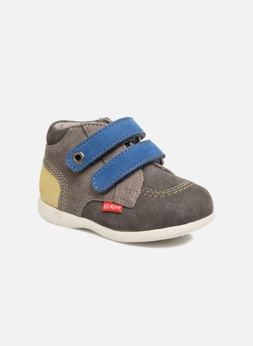 Zapatos con velcro Kickers Babyscratch Gris vista de detalle / par