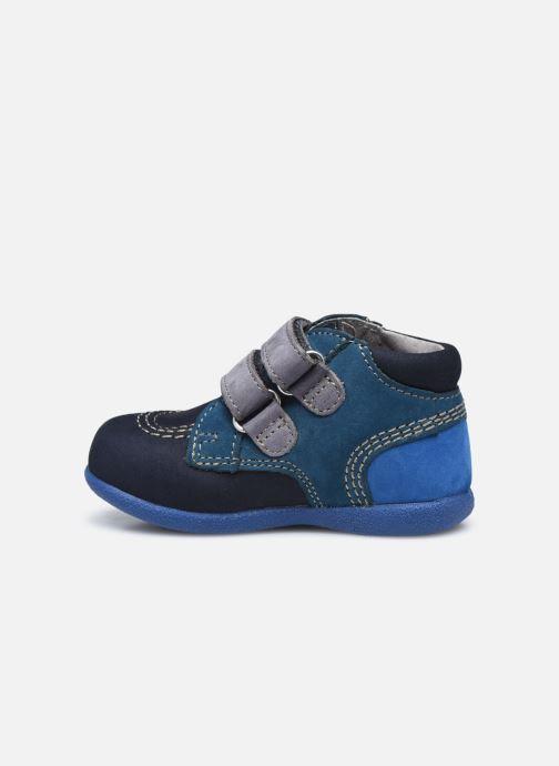 Zapatos con velcro Kickers Babyscratch Azul vista de frente