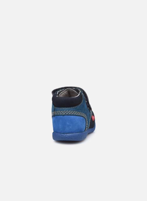 Zapatos con velcro Kickers Babyscratch Azul vista lateral derecha