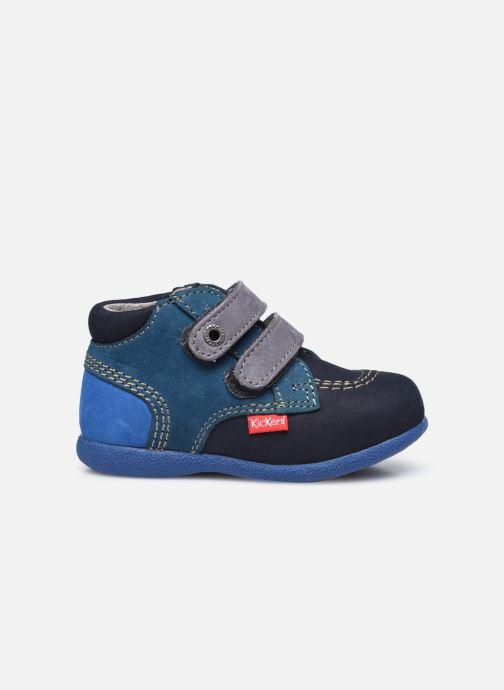 Zapatos con velcro Kickers Babyscratch Azul vistra trasera
