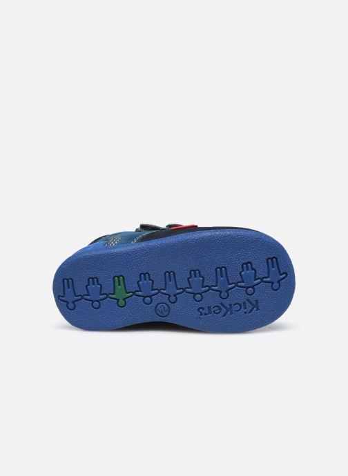 Zapatos con velcro Kickers Babyscratch Azul vista de arriba