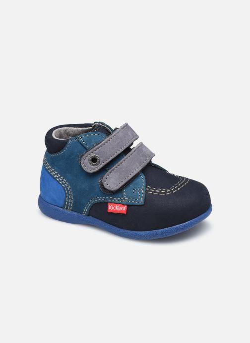 Zapatos con velcro Kickers Babyscratch Azul vista de detalle / par