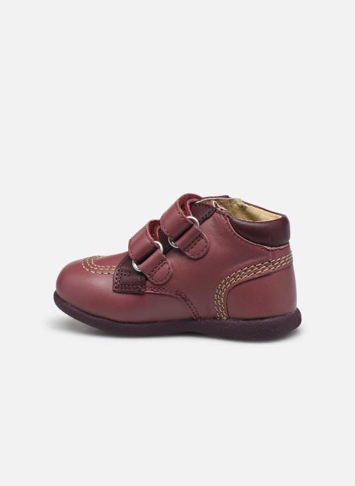 Zapatos con velcro Kickers Babyscratch Violeta      vista de frente
