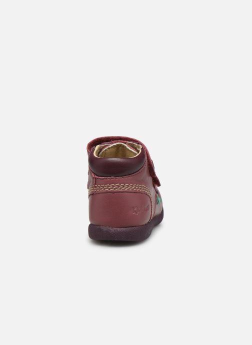 Zapatos con velcro Kickers Babyscratch Violeta      vista lateral derecha