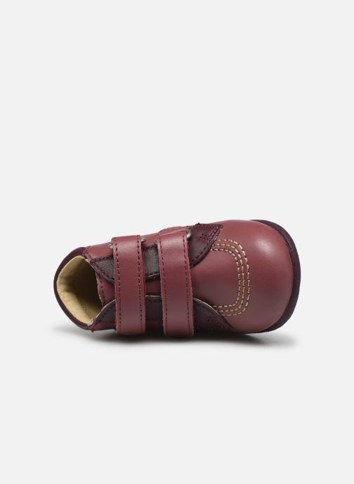 Zapatos con velcro Kickers Babyscratch Violeta      vista lateral izquierda