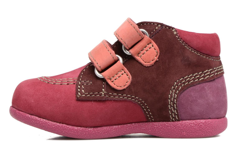 Chaussures à scratch Kickers Babyscratch Rose vue face
