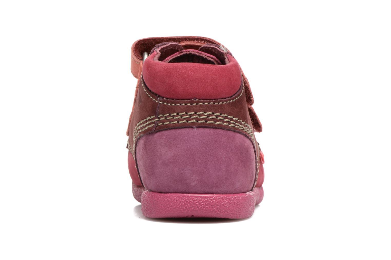 Chaussures à scratch Kickers Babyscratch Rose vue droite