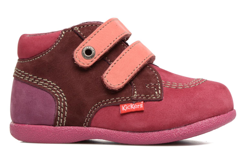 Chaussures à scratch Kickers Babyscratch Rose vue derrière