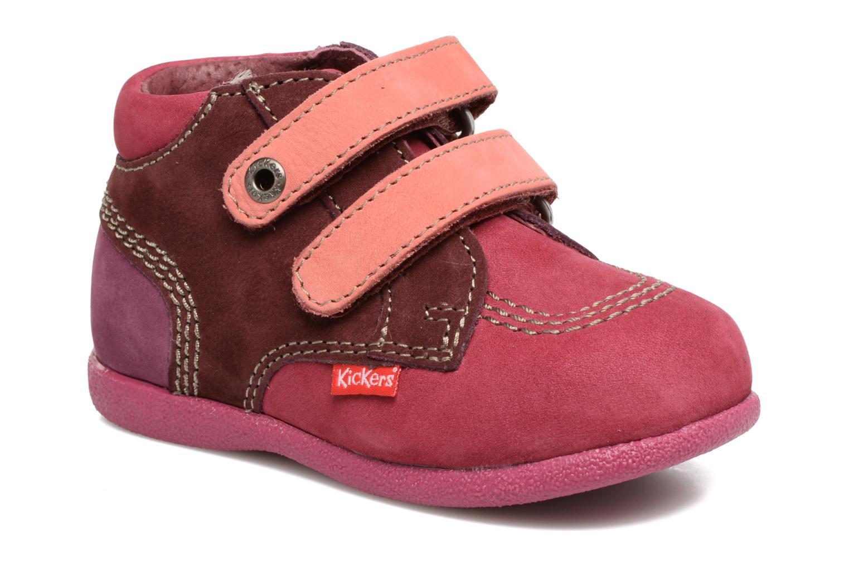 Chaussures à scratch Kickers Babyscratch Rose vue détail/paire