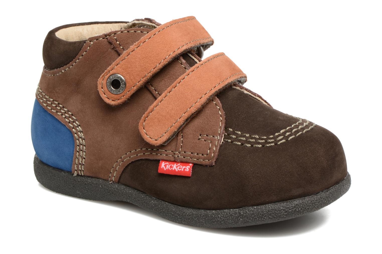Chaussures à scratch Kickers Babyscratch Marron vue détail/paire