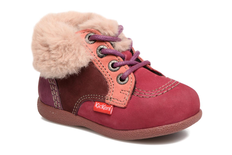 Bottines et boots Kickers Babyfrost Violet vue détail/paire