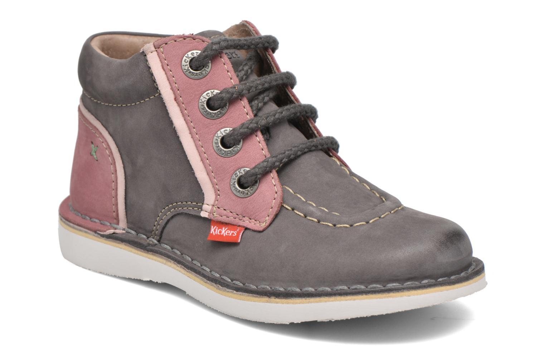 Bottines et boots Kickers Walla Gris vue détail/paire