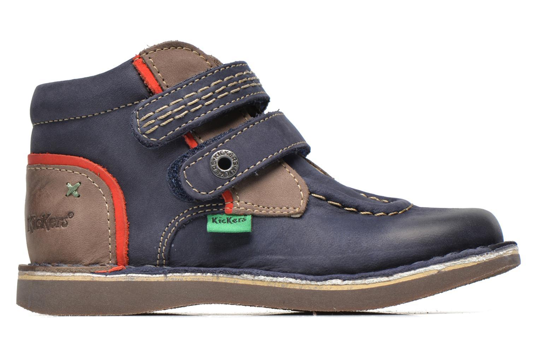 Chaussures à scratch Kickers Wapa Bleu vue derrière